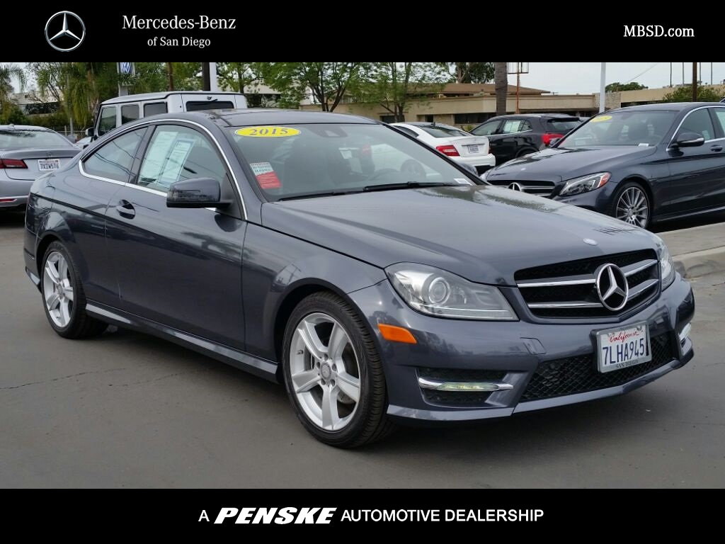 Pre owned 2015 mercedes benz c class c 250 coupe in san for Mercedes benz c class pre owned
