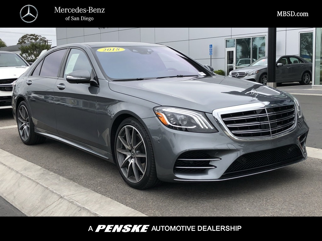 Certified pre owned 2018 mercedes benz s class s 450 sedan for San diego mercedes benz service