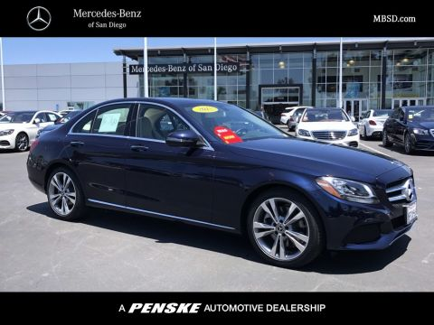 Certified Pre-Owned 2018 Mercedes-Benz C-Class C 300 SEDAN in San